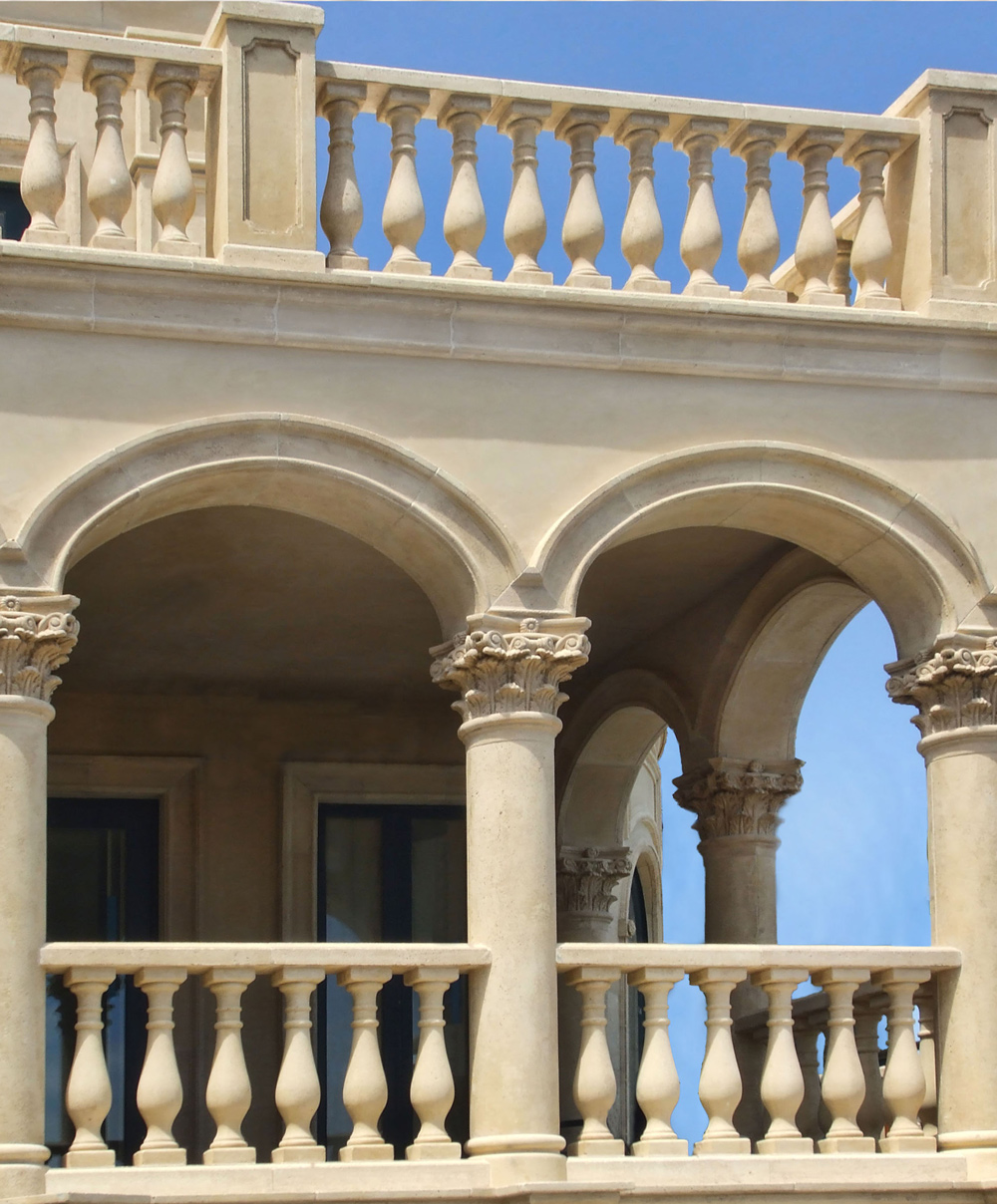 Corintian Columns Venetian Architectural Stone